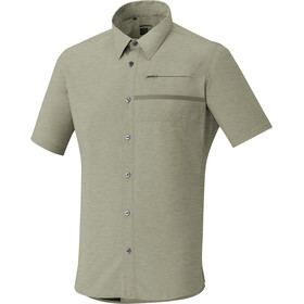 Shimano Transit Short Sleeve Check Button Up Shirt Men Dusky Green